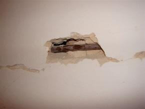 Defekte Wand - vorher