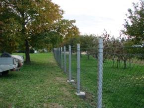 Nachher - der reparierte Zaun